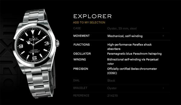 Rolex Explorer Foto