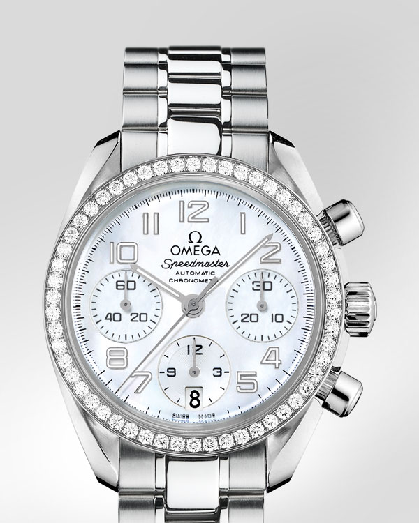Omega Speedmaster Automatic Chronometer Replica Orologio Da Donna Bianco