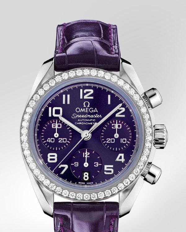 Omega Speedmaster Automatic Chronometer Replica Orologio Da Donna Viola